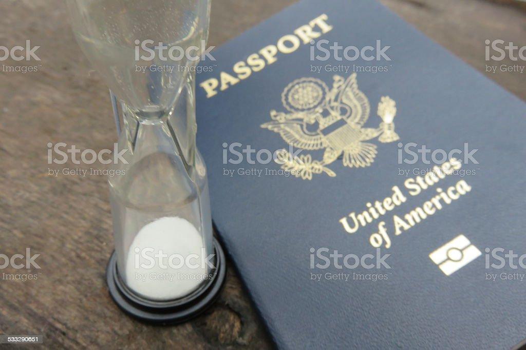 Not valid passport stock photo