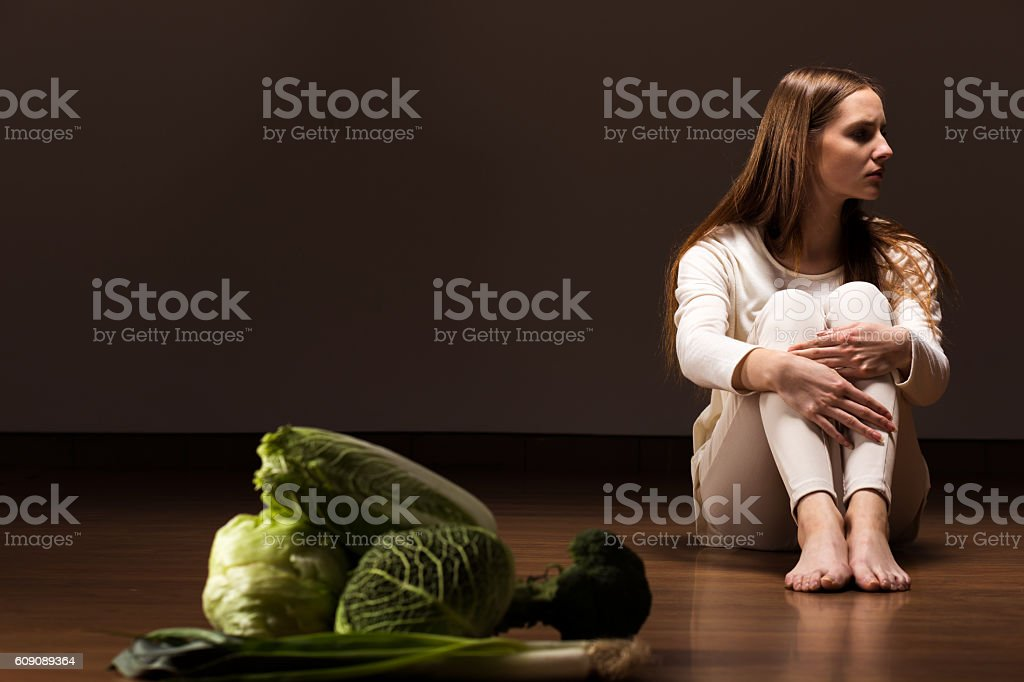 Not willing to eat stock photo