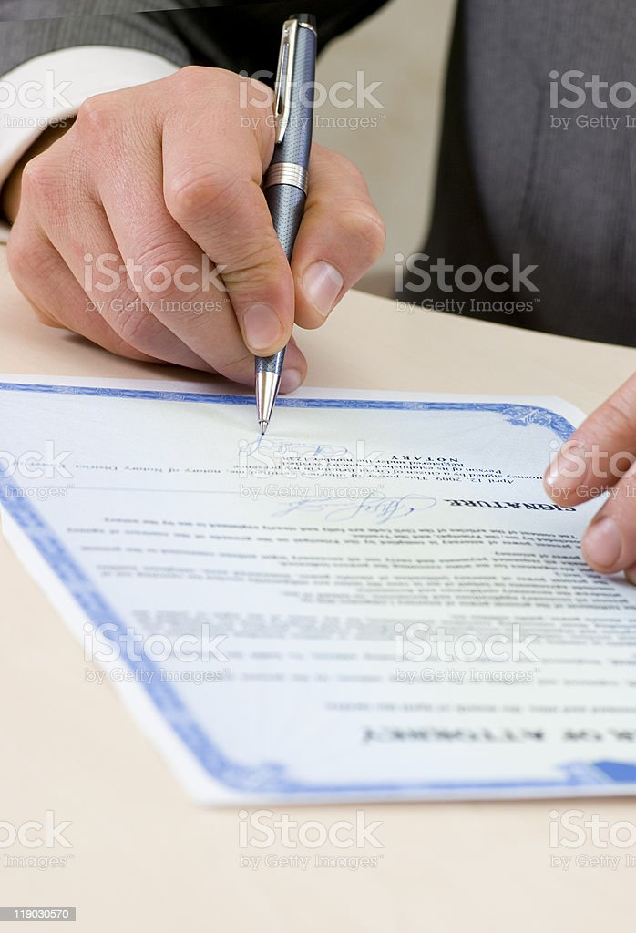 Notary certified a power of attorney royalty-free stock photo