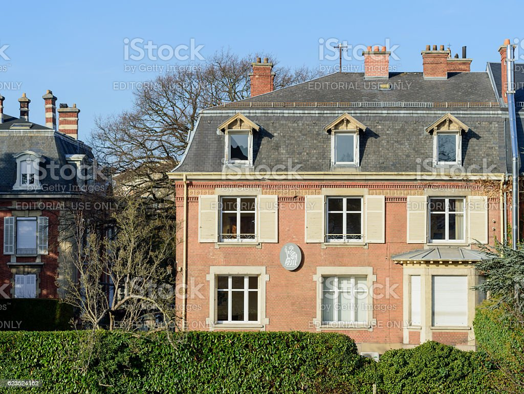 Notary house office in France Luxury real estate stock photo