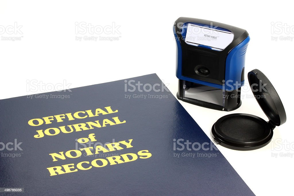Notary Journal stock photo
