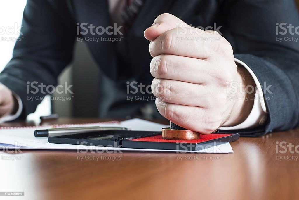 Notary notarize testament royalty-free stock photo
