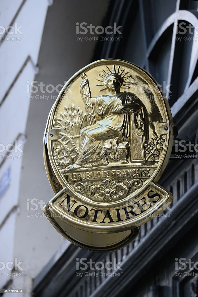 Notaire stock photo