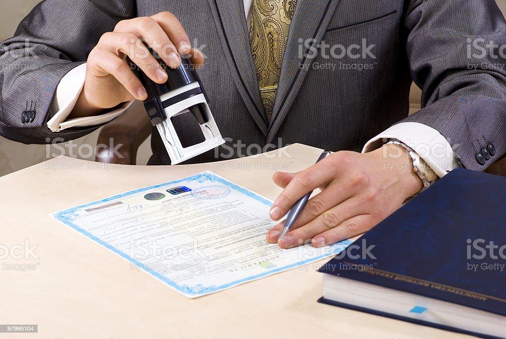 Notary Seal stock photo