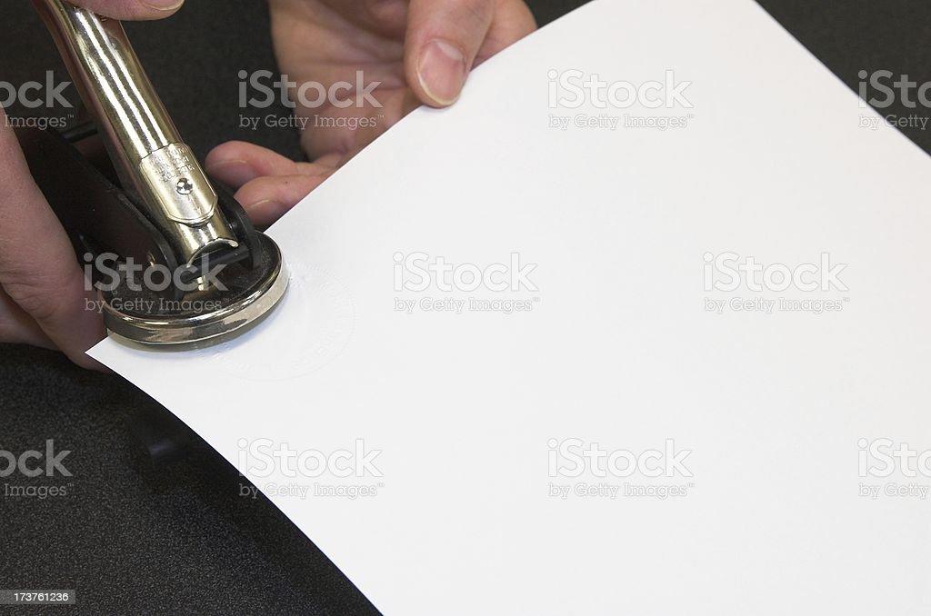 notary stamp stock photo