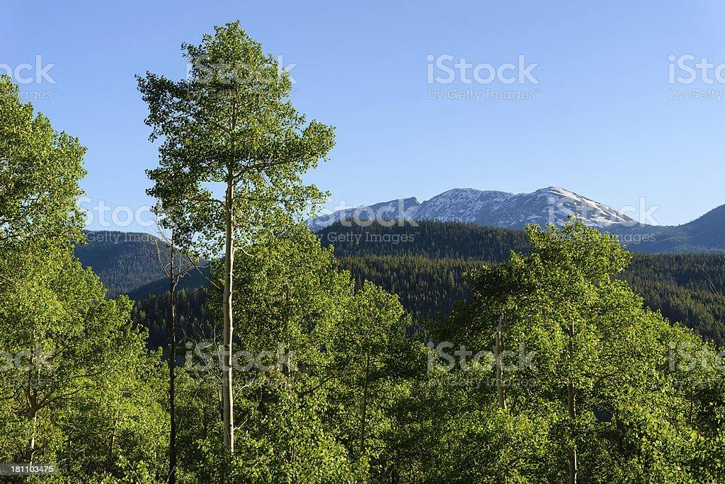 Notch Mountain stock photo