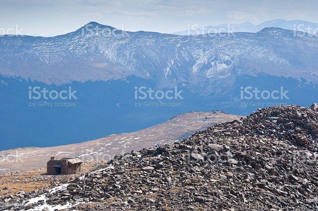 Notch Mountain Shelter on High Ridge stock photo