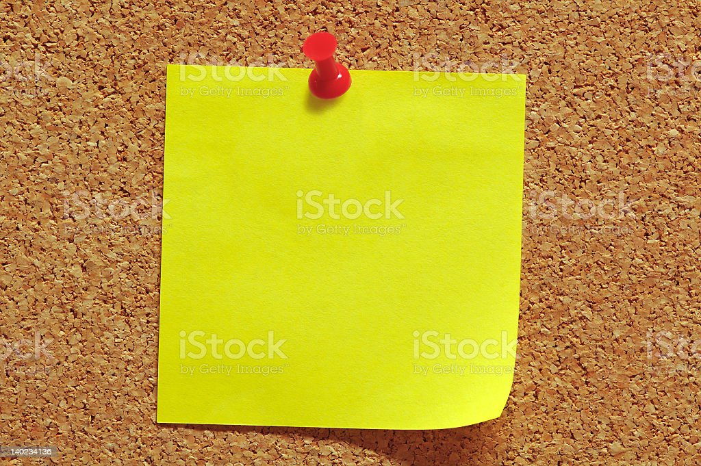 Note and Push Pin royalty-free stock photo