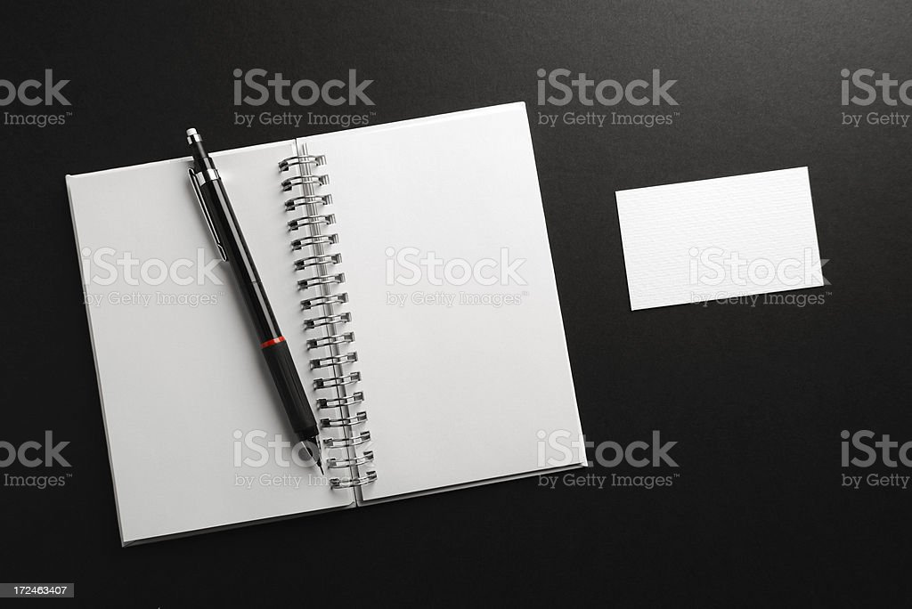 Note book and business card royalty-free stock photo