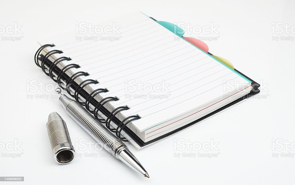 note book and pen royalty-free stock photo