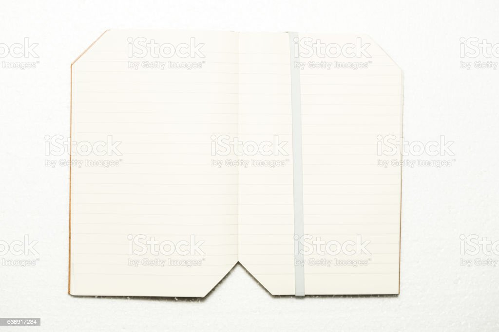 Note book on white background isolated stock photo