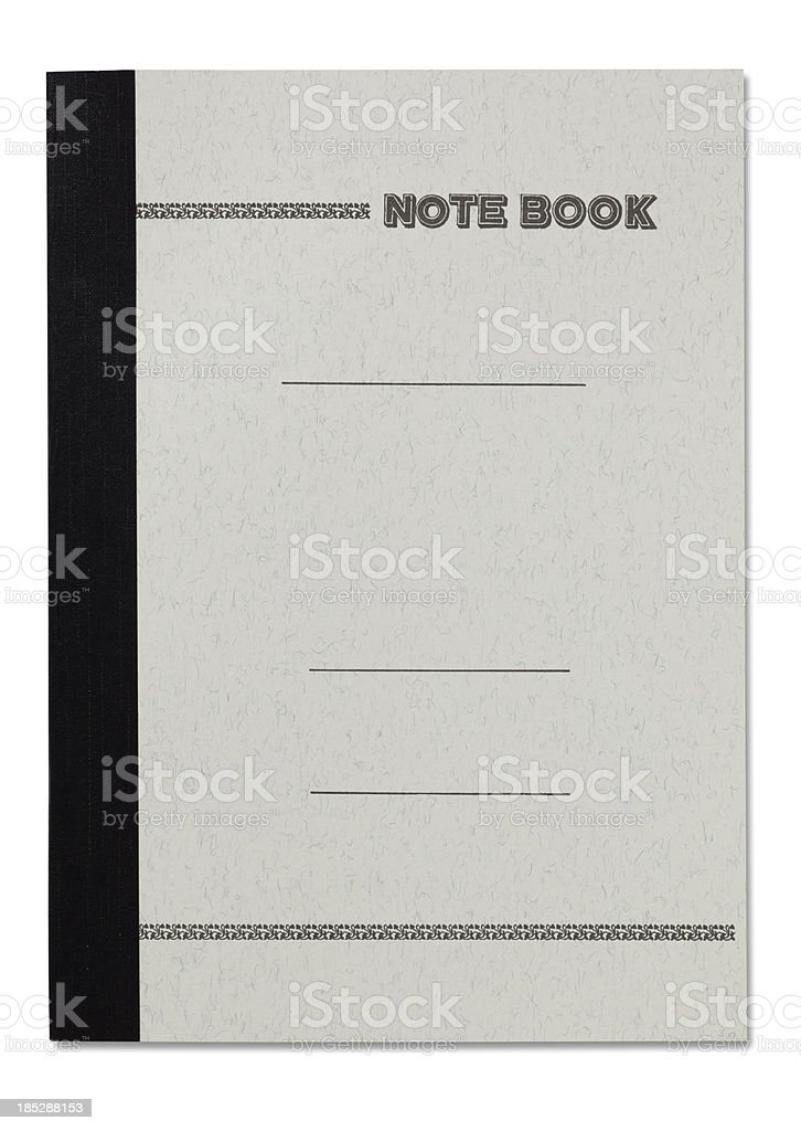 Note Book on white stock photo