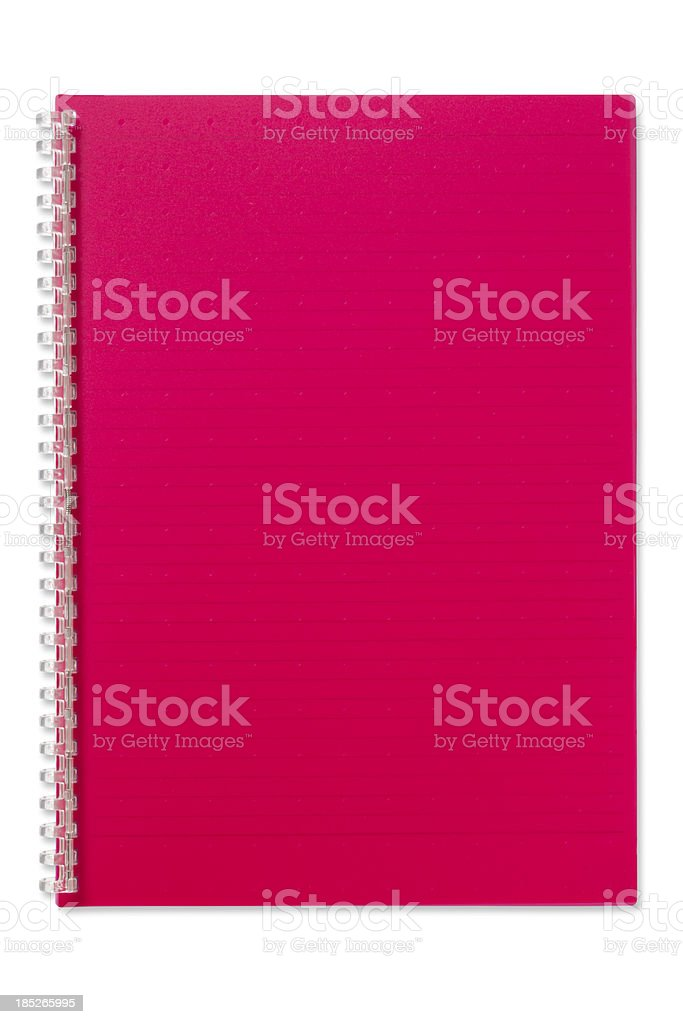 Note Book (with clipping path) stock photo