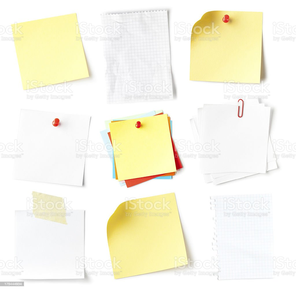 Note collection royalty-free stock photo