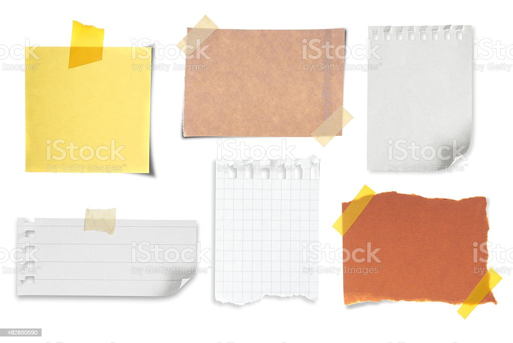 Note collection stock photo