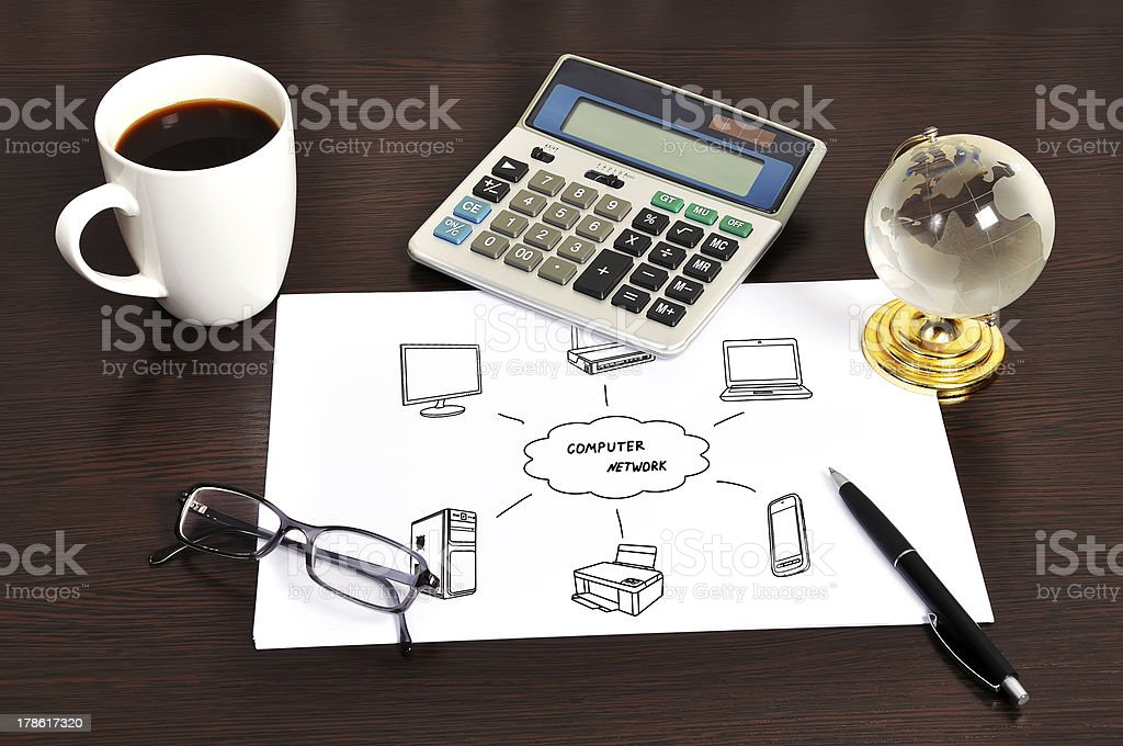 Note computer network royalty-free stock photo