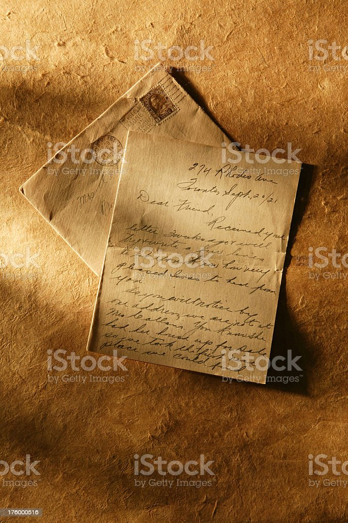 Note From an Old Friend 2 royalty-free stock photo