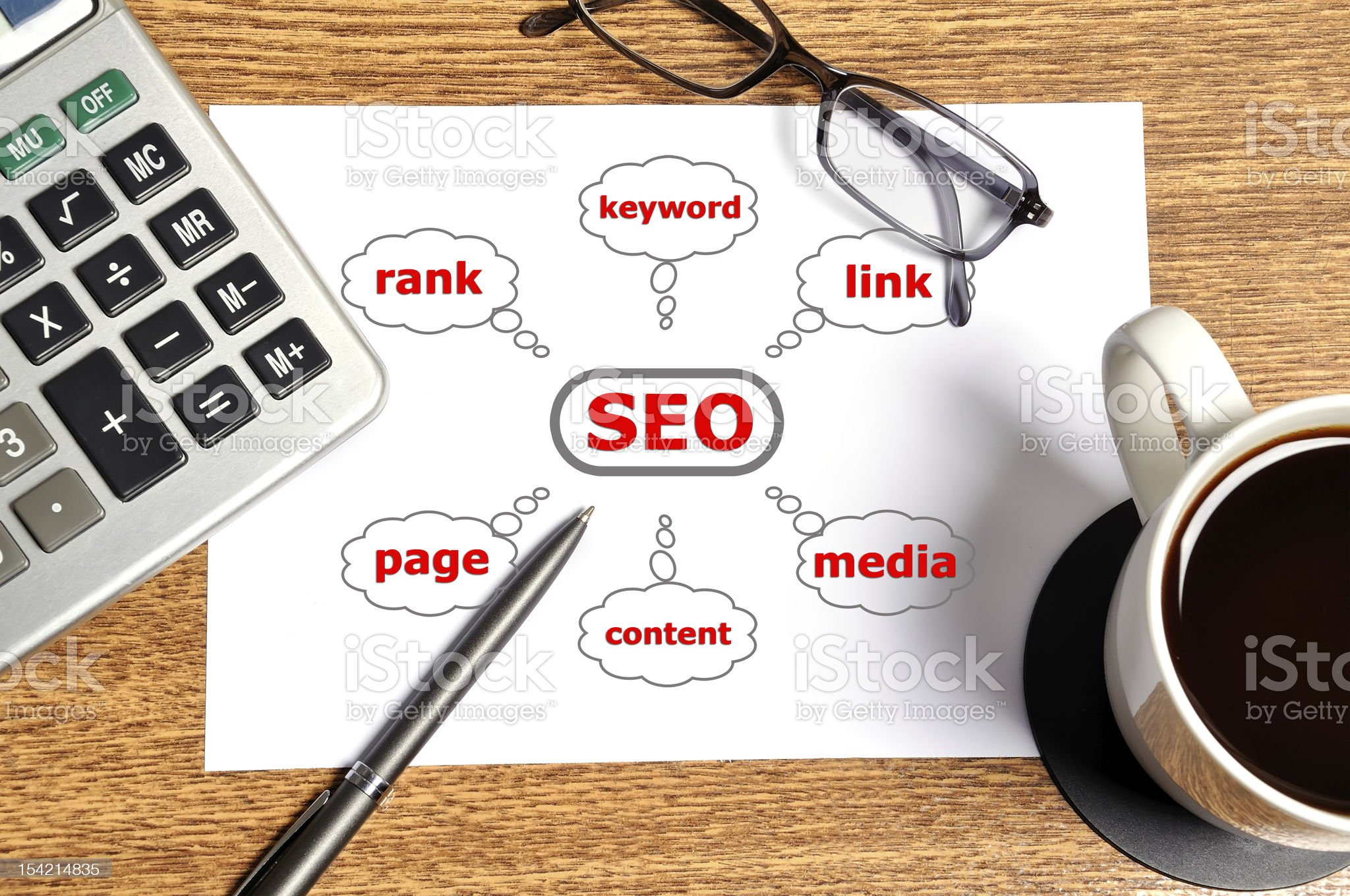 Note graph seo royalty-free stock photo