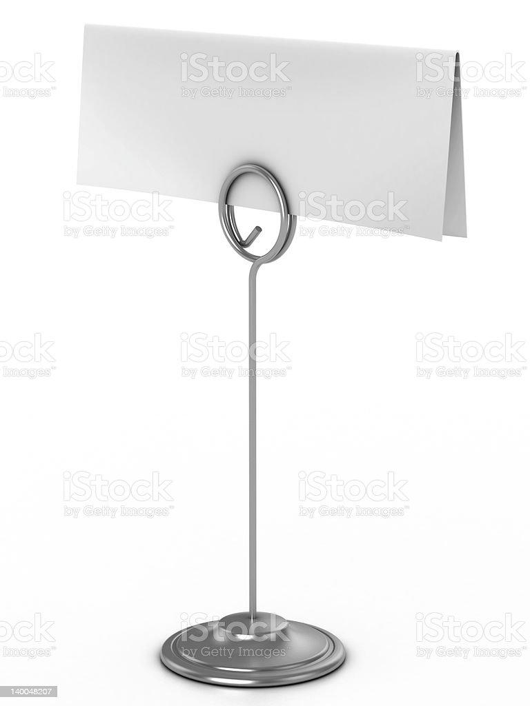 note holder 3d illustration stock photo