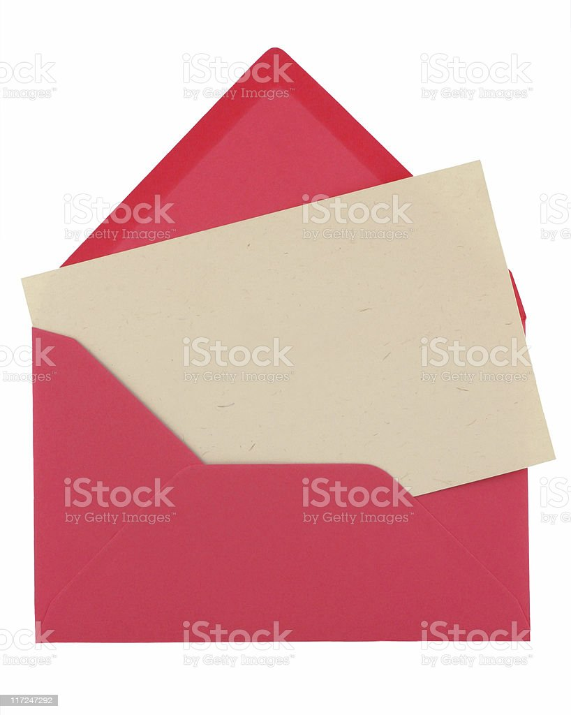 note in a pink envelope royalty-free stock photo