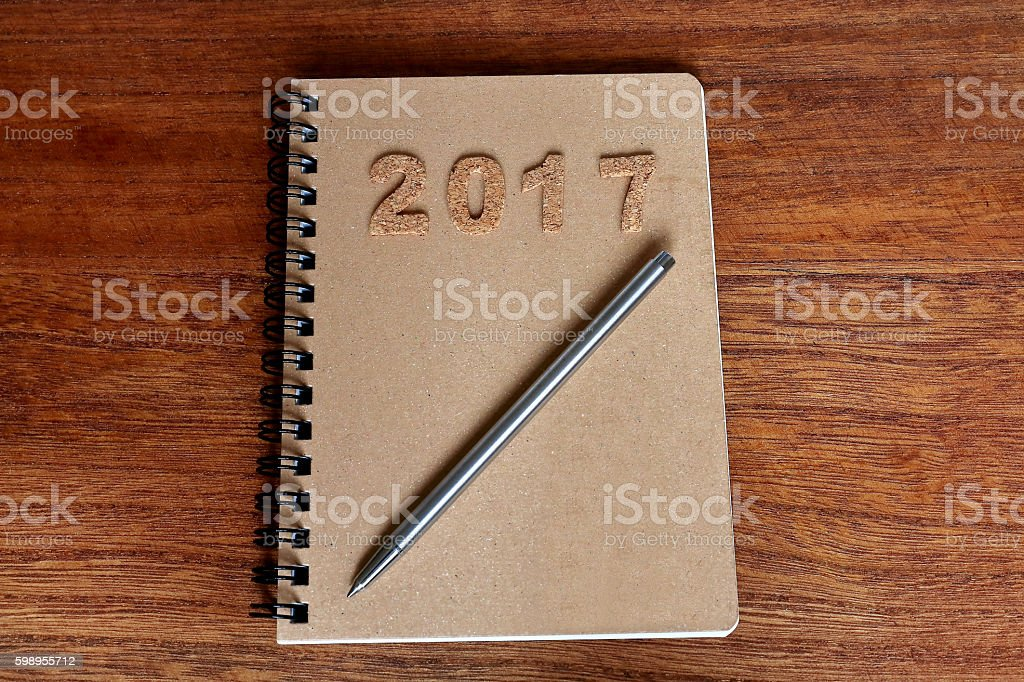 Note of 2017 stock photo