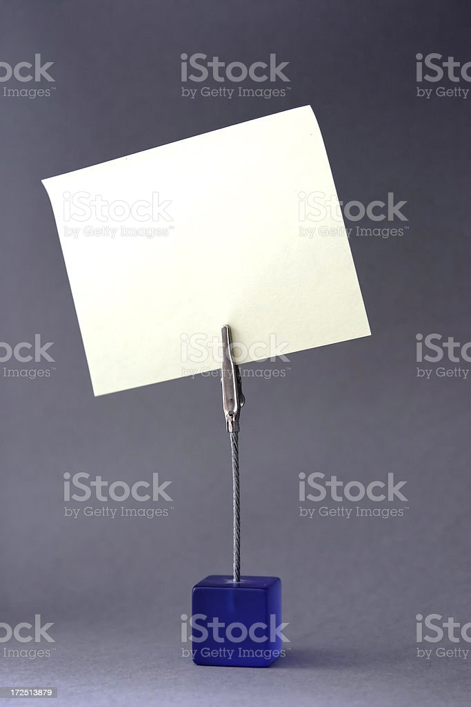 Note on a stand royalty-free stock photo