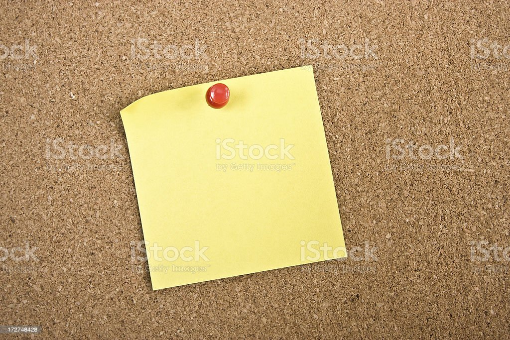 Note on Board royalty-free stock photo