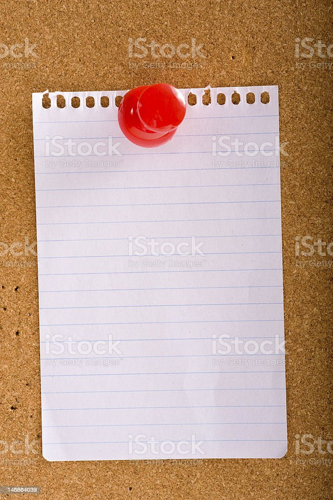 Note on Bulletin board royalty-free stock photo