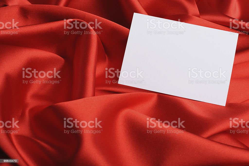 Note on red silk royalty-free stock photo