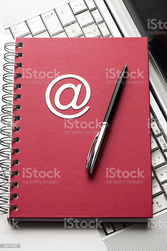 Note Pad and Laptop royalty-free stock photo