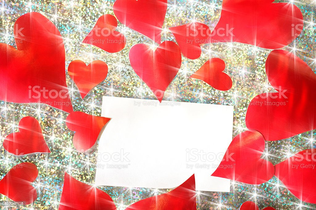 note pad and love stock photo