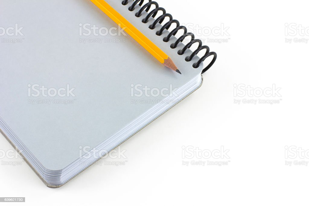 Note pad and Pencil stock photo