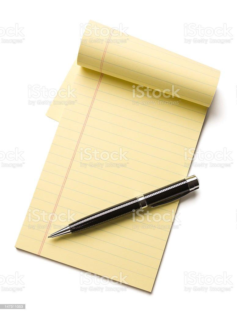 Note pad stock photo