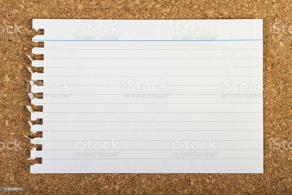 Note pad sheet royalty-free stock photo