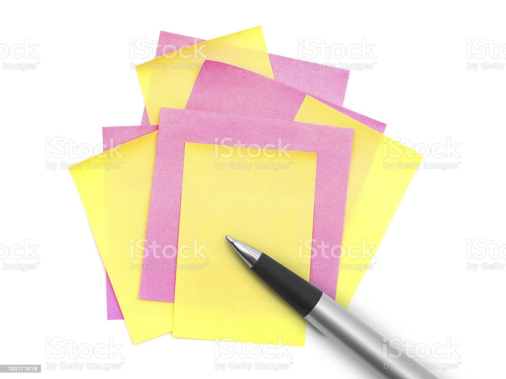 Note paper and pen royalty-free stock photo