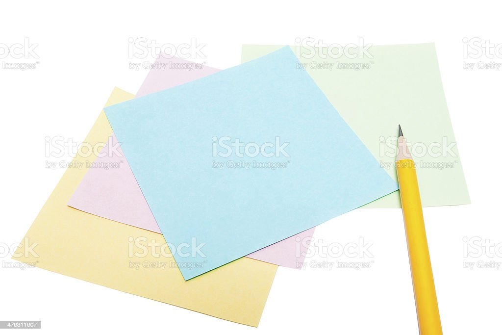 Note paper and pencil royalty-free stock photo