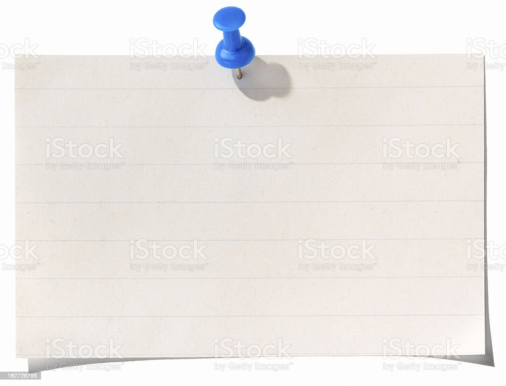 Note Paper and Push Pin royalty-free stock photo