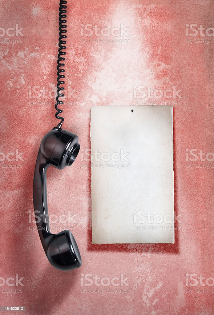 Note paper and telephone stock photo