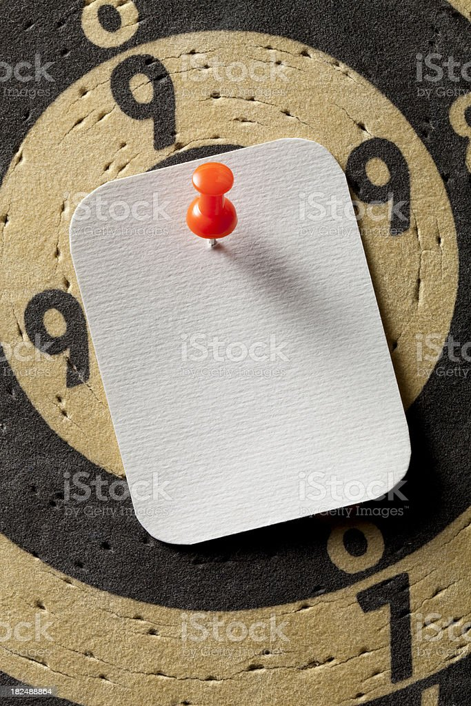 Note paper at the center stock photo