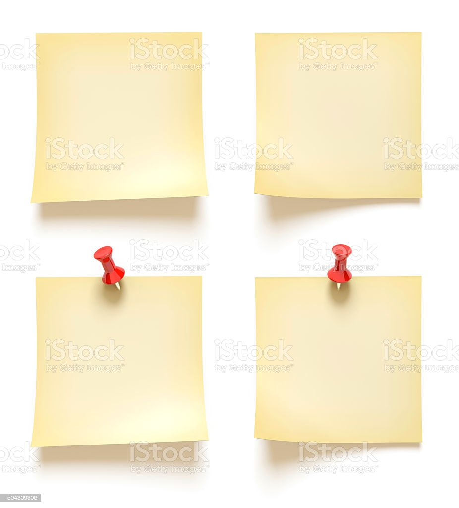 Note paper collection isolated on white. royalty-free stock photo