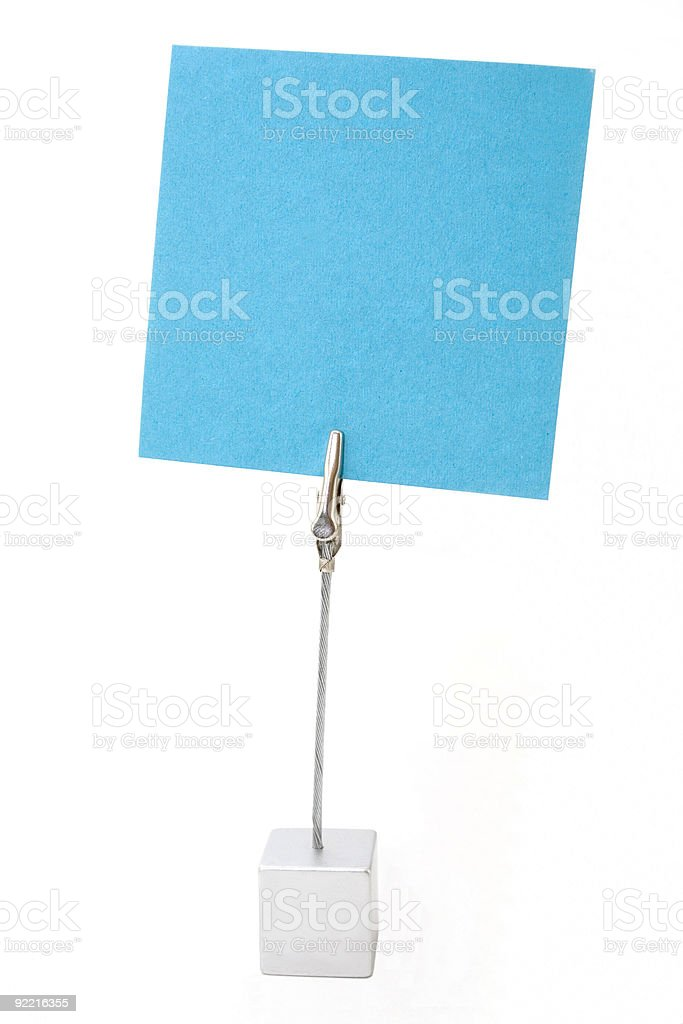 Note paper holder stock photo