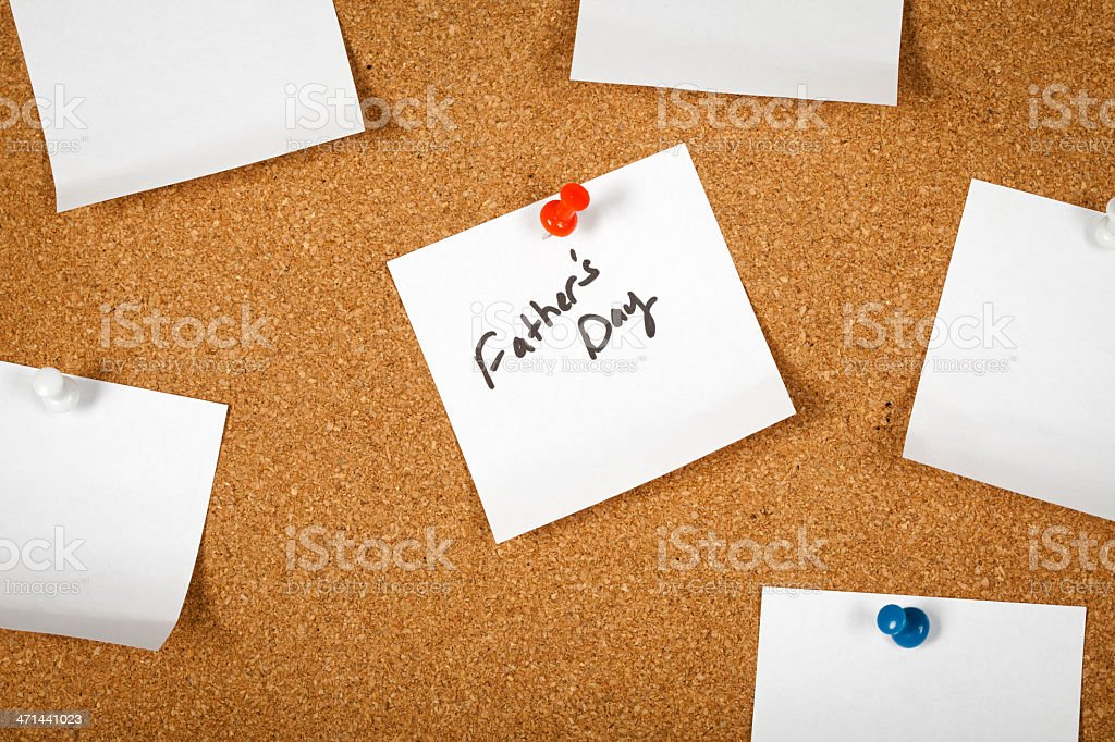 Note paper (Father's day) royalty-free stock photo
