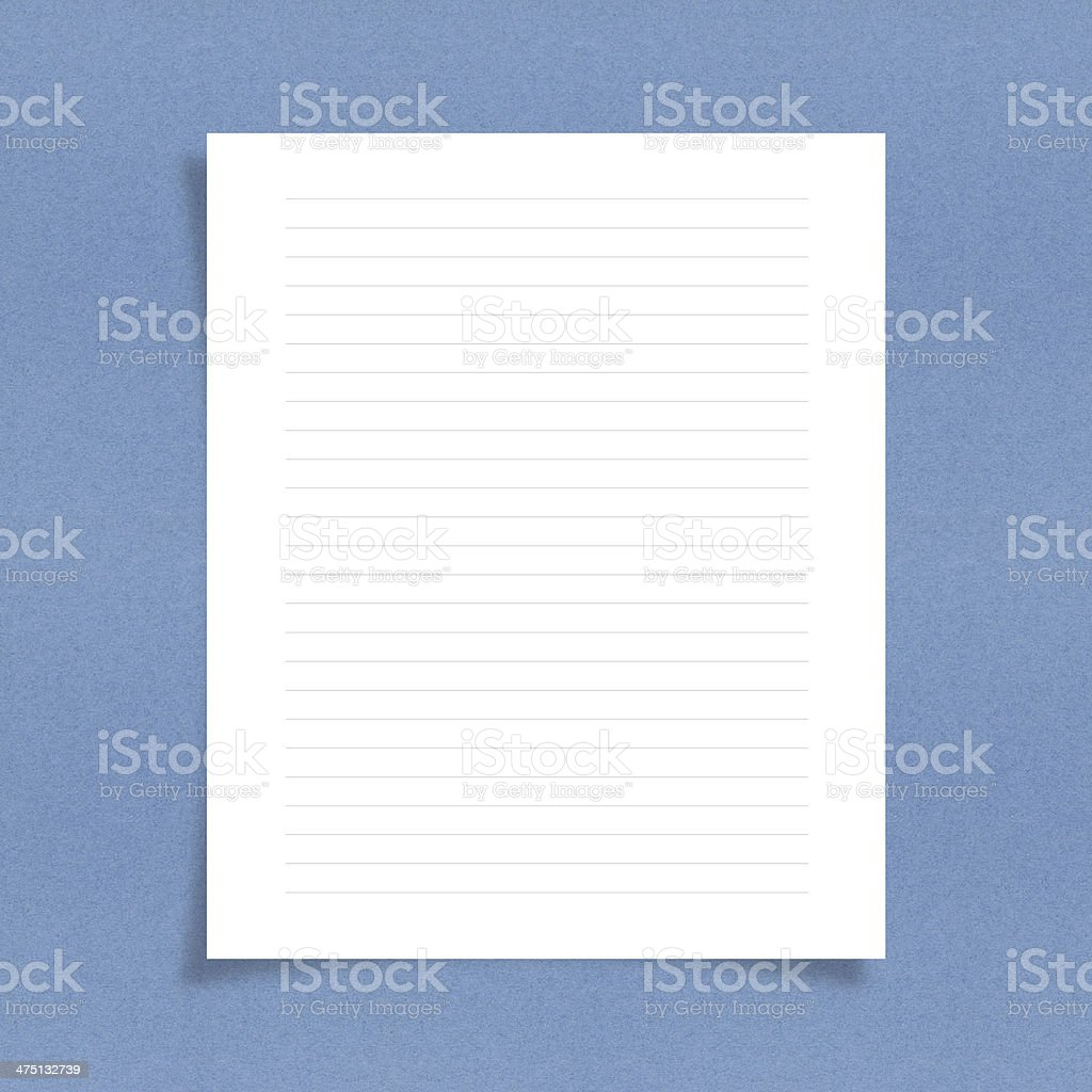 note paper with line on board background stock photo