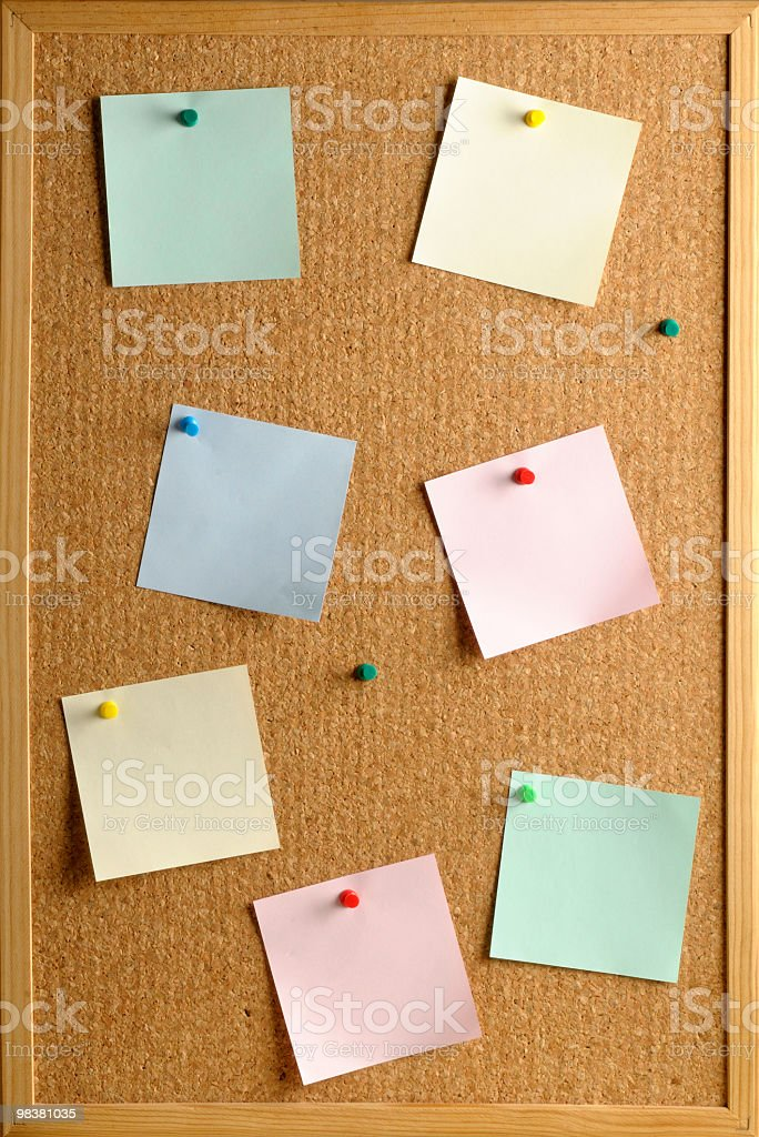 Note Papers royalty-free stock photo