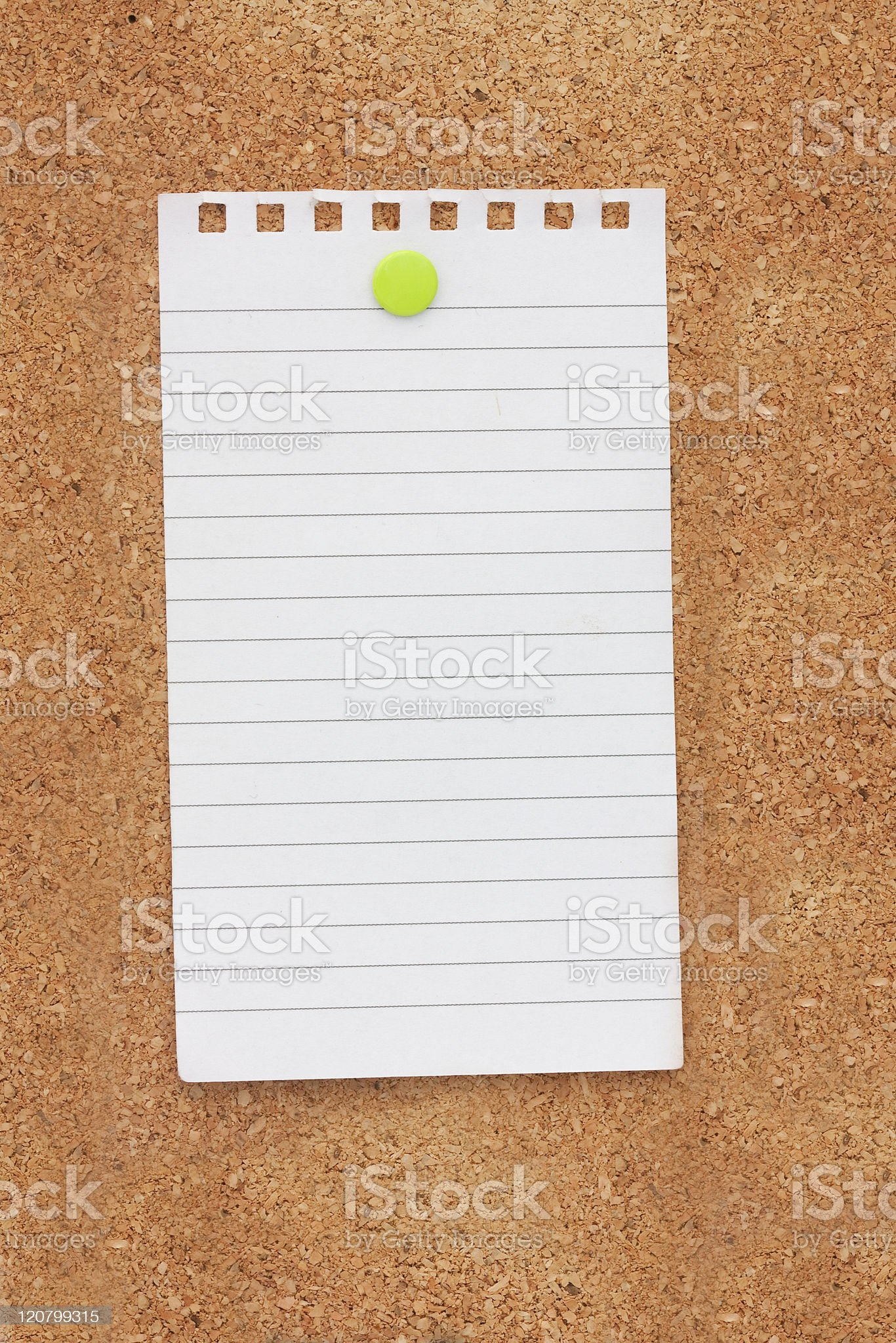 Note pinned on a noticeboard royalty-free stock photo