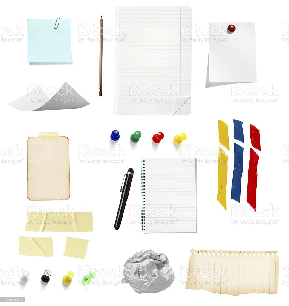 note reminder business office supplies stock photo