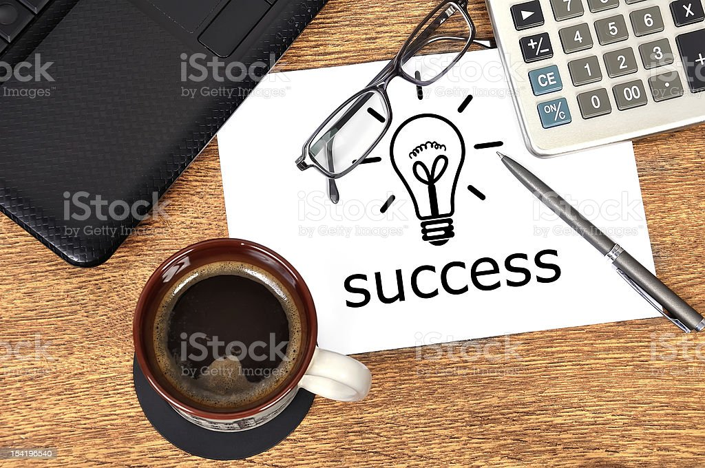 Note success royalty-free stock photo
