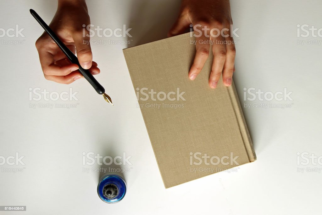 Note taker stock photo