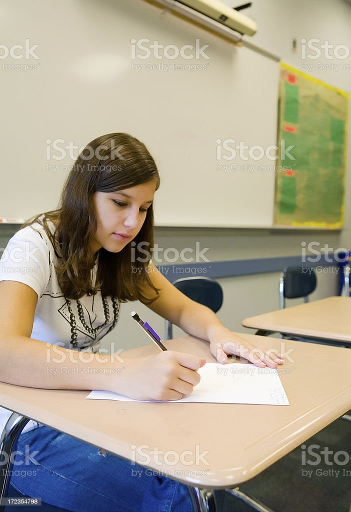 Note Taking royalty-free stock photo