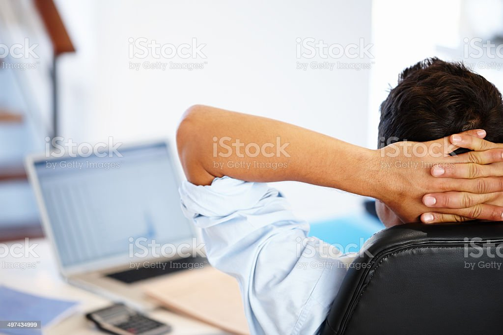 Note to self: Relax!!!!!! stock photo